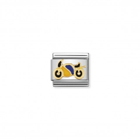 Composable_Classic_Link_with_Enamel_Motorcycling_Sports_Link_with_18K_gold_and_enamel