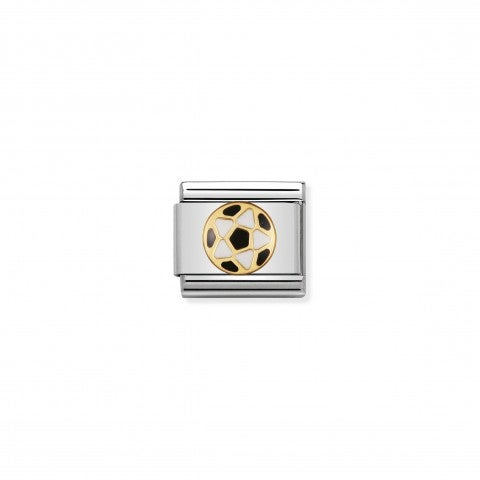 Composable_Classic_Link_black_and_white_Football_Link_in_gold_and_coloured_enamel_My_Football_Team
