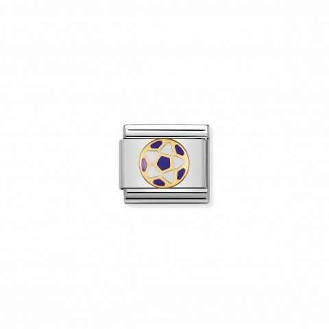 Composable_Classic_Link_white_and_violet_Football_My_Football_Team_Link_with_gold_and_enamel.
