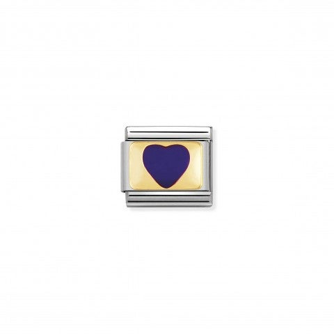 Composable_Classic_Link_violet_Heart_with_Gold_Link_in_18K_gold_and_enamel_coloured_Hearts