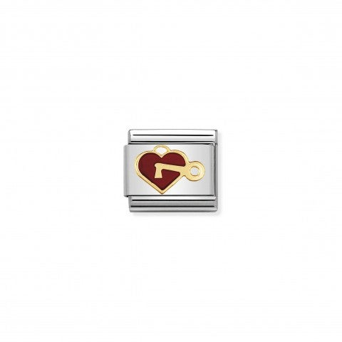 Composable_Classic_Link_red_Heart_with_Key_18K_gold_and_enamel_Link_Love_messages