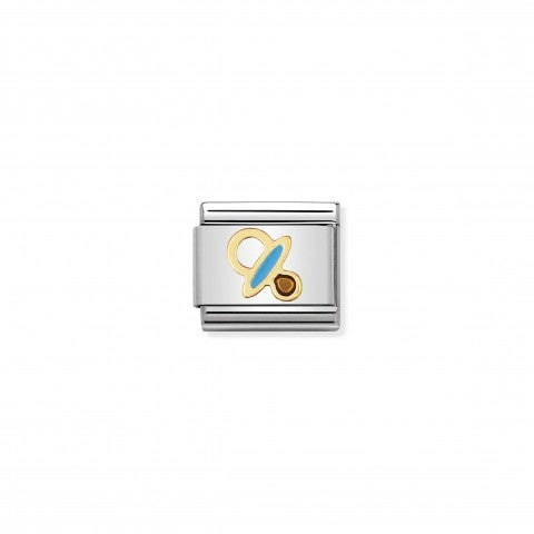 Composable_Classic_Link_blue_Pacifier_18K_gold_and_blue_enamel_Link_with_Pacifier_symbol