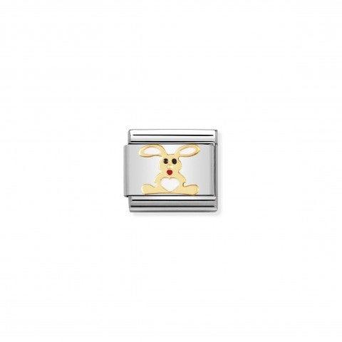 Link_Composable_Classic_Coniglio_bianco_Link_con_animale_in_Smalto_bianco_e_Oro750