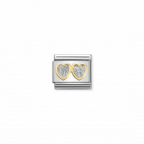 Composable_Classic_Link_Double_Hearts_Glitter_Link_in_18K_gold_with_symbol