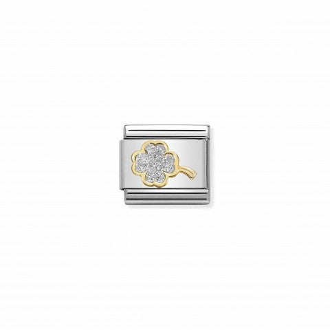 Composable_Classic_Link_Glitter_4-Leaf_Clover_Link_with_Luck_symbol_in_18K_yellow_gold
