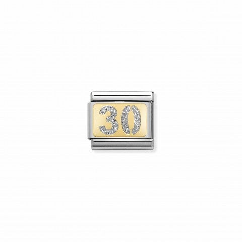 Composable_Classic_Link_Glitter_Number_30_Link_with_Glitter_enamel_and_gold_details