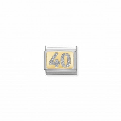 Composable_Classic_Link_Glitter_Number_40_Link_in_18K_yellow_gold_and_glitter_enamel
