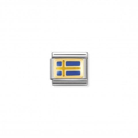 Link_Composable_Classic_Bandiera_Svezia_Link_in_Acciaio_con_la_bandiera_Svedese