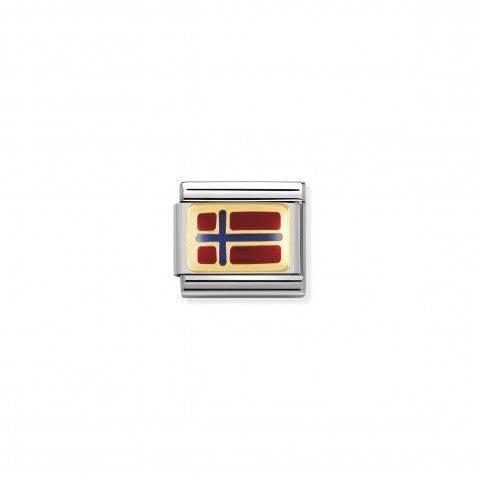 Link_Composable_Classic_Bandiera_Norvegia_Link_bandiera_Europea_con_dettagli_in_Smalto