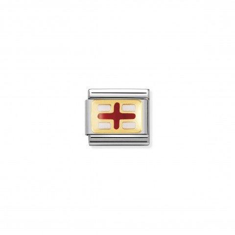 Link_Composable_Classic_Bandiera_Inghilterra_Link_bandiera_Europea_con_Smalto_rosso_e_bianco
