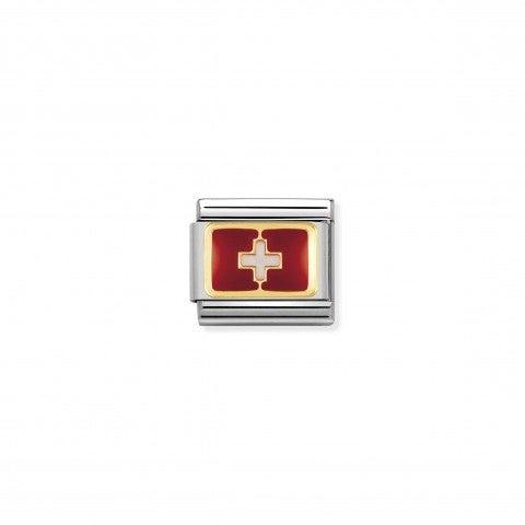 Link_Composable_Classic_Bandiera_Svizzera_Link_in_Acciaio_con_la_bandiera_della_Svizzera