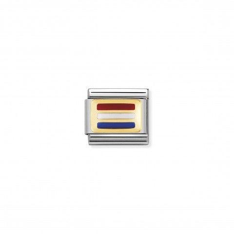 Link_Composable_Classic_Bandiera_Olanda_Link_simbolo_bandiera_europea_con_dettagli_in_Oro