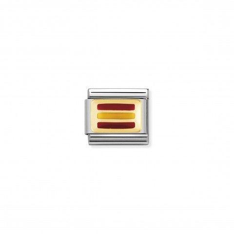Link_Composable_Classic_Bandiera_Spagna_Link_bandiera_Europea_con_Smalto_rosso_e_giallo