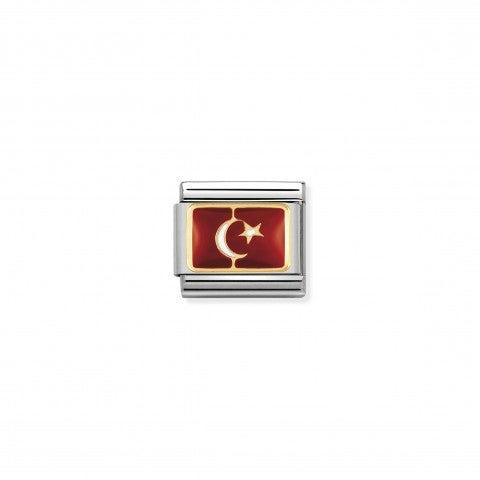 Link_Composable_Classic_Bandiera_Turchia_Link_in_Acciaio_con_simbolo_della_bandiera_turca