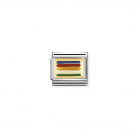 Composable_Classic_Link_Peace_Flag_Stainless_steel_Link_with_Rainbow_Flag