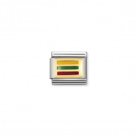 Link_Composable_Classic_Bandiera_Lituania_Link_con_simbolo_della_bandiera_lituana_in_Acciaio