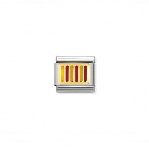 Link_Composable_Classic_Bandiera_Catalogna_Link_con_bandiera_Europea_in_Smalto_rosso_e_giallo