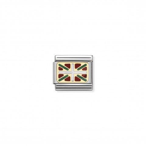 Link_Composable_Classic_Bandiera_Paesi_Baschi_Link_in_Oro750_e_Acciaio_con_bandiera_basca