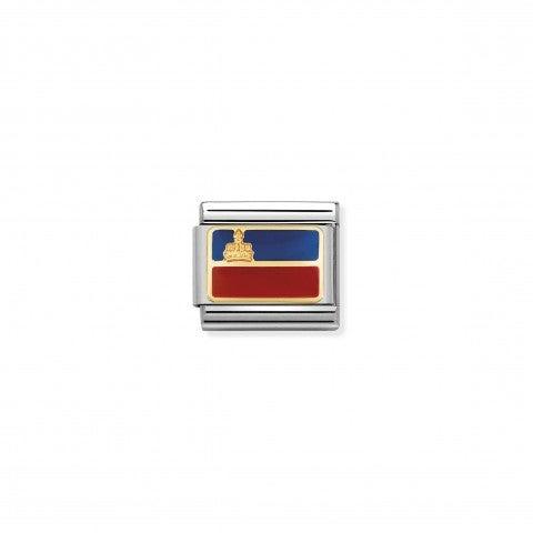 Composable_Classic_Link_Flag_Liechtenstein_European_Flag_Link_with_coloured_enamel_details