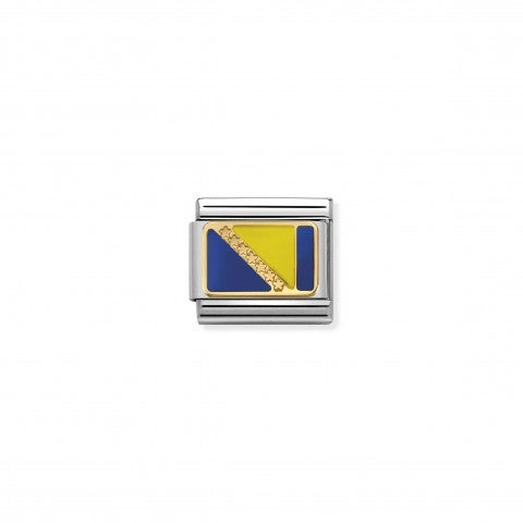 Composable_Classic_Link_Flag_Bosnia_Link_with_gold_details_and_European_Flag_symbol