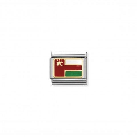 Link_Composable_Classic_Oman_Link_in_acciaio,_oro_e_smalto_simbolo_viaggio