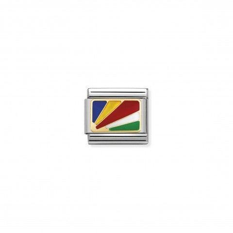 Link_Composable_Classic_Bandiera_Seychelles_Link_con_bandiera_in_Acciaio_e_Smalto_colorato