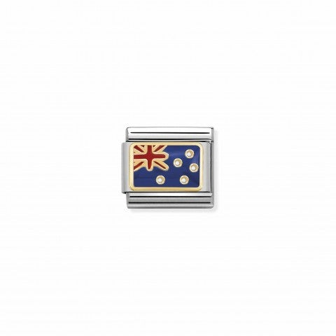 Composable_Classic_Link_Australia_Flag_Oceania_Flag_Link_with_coloured_enamel_details