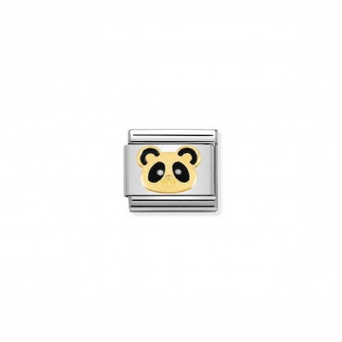 Composable_Classic_Panda_Face_Link_Link_in_stainless_steel_and_Gold