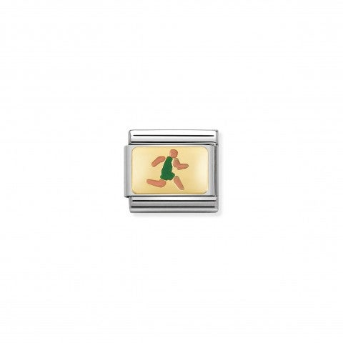 Composable_Classic_Runner_Link_in_Enamel_Link_in_stainless_steel_with_Athletic_Runner