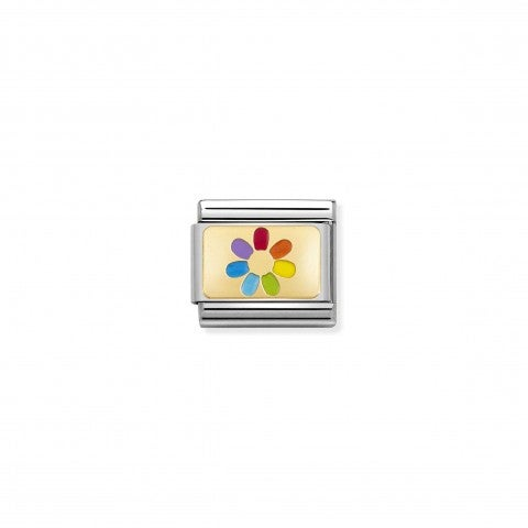 Composable_Classic_Link_Rainbow_Flower_Link_with_coloured_symbol