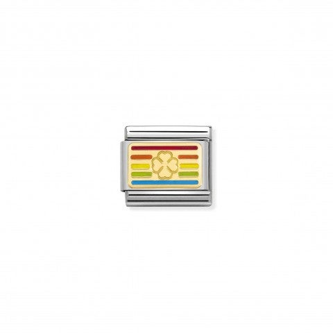 Composable_Link_Rainbow_Flag_Four-Leaf_Clover_Link_in_18K_gold_with_lucky_charm