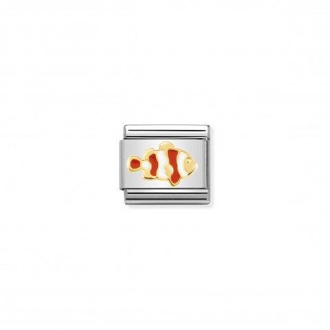 Link_Composable_Classic_pesce_Pagliaccio_Link_in_oro_750_con_simbolo_animale_del_pesce