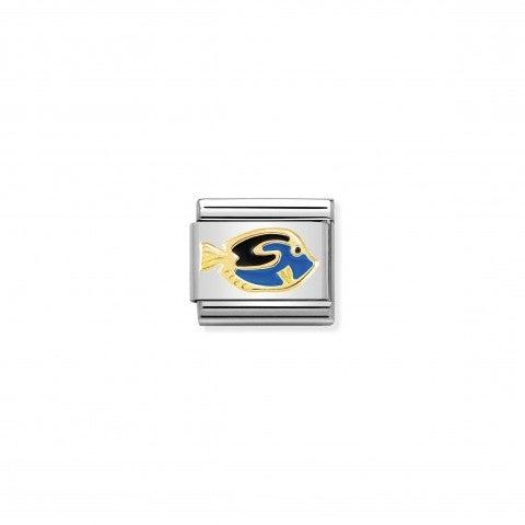 Link_Composable_Classic_Pesce_Blu_Link_in_oro_750_con_simbolo_animale_del_pesce