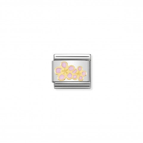 Composable_Classic_Pink_Peach_Flower_Link_Link_in_gold_with_symbol
