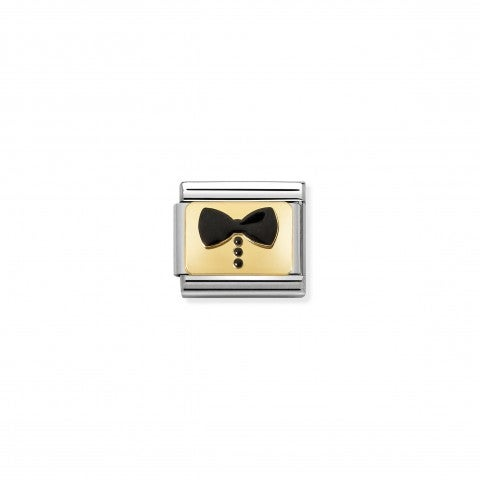 Composable_Classic_Link_black_Bow_Tie_Link_with_Bow_for_him_symbol_in_18K_gold_and_enamel
