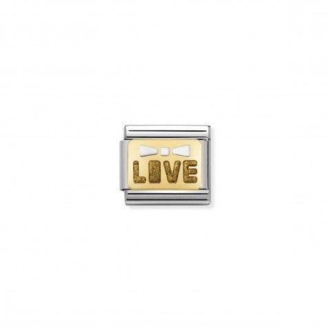 Link_Composable_Classic_fiocco_Live_Link_decorativo_per_bracciale_in_acciaio_con_scritta