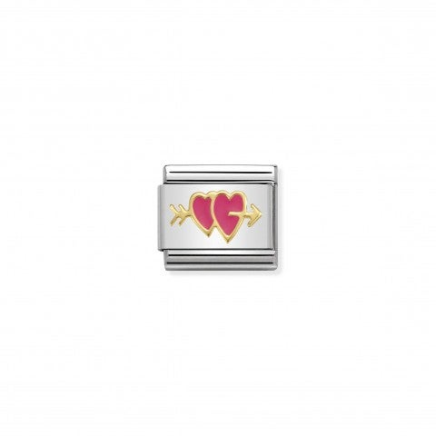 Composable_Classic_Link_Double_Fuchsia_Heart_Link_with_coloured_enamel_and_Double_Heart_symbol