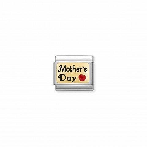 Link_Composable_Classic_Mother's_Day_Corazón_rojo_Link_en_Oro_750_y_esmalte_con_texto