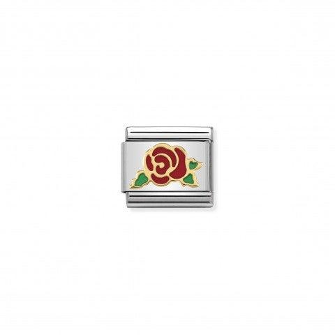 Link_Composable_Classic_Rosa_rossa_Versailles_Link_con_simbolo_rosa_in_Oro_750_e_Smalto_rosso