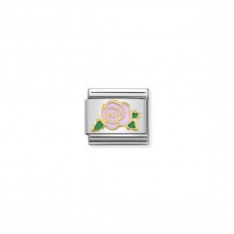 Link_Composable_Classic_Rosa_rosa_Versailles_Link_con_simbolo_rosa_in_Oro_750_e_Smalto_rosa