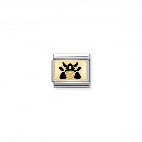 Composable_Classic_Samurai_Link_Link_in_stainless_steel_and_gold_with_symbol