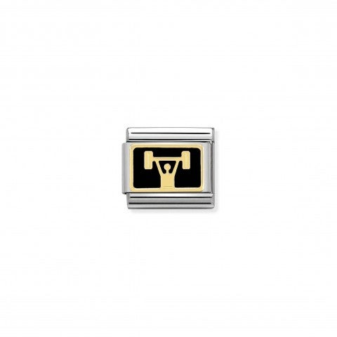 Composable_Classic_Link_Weightlifting_Link_in_18K_Gold_with_Black_Enamel
