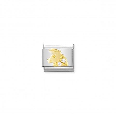 Link_Composable_Classic_con_Pietre_Toro_Link_in_Oro_750_con_Cubic_Zirconia_Simboli_Zodiaco
