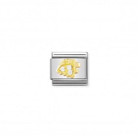 Link_Composable_Classic_con_Pietre_Leone_Link_in_Oro_750_con_pietre_con_Simboli_Zodiaco