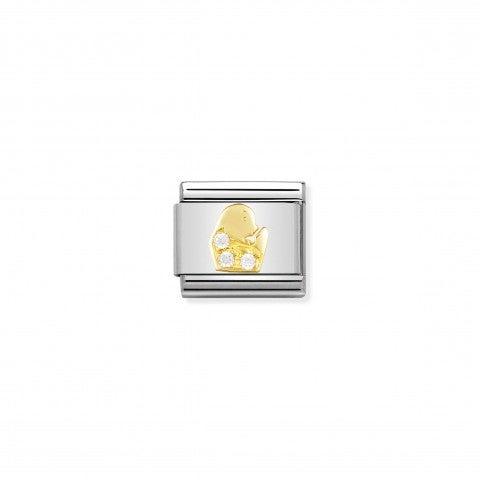 Link_Composable_Classic_con_Pietre_Vergine_Link_in_Oro_e_Cubic_Zirconia_con_Simboli_Zodiaco