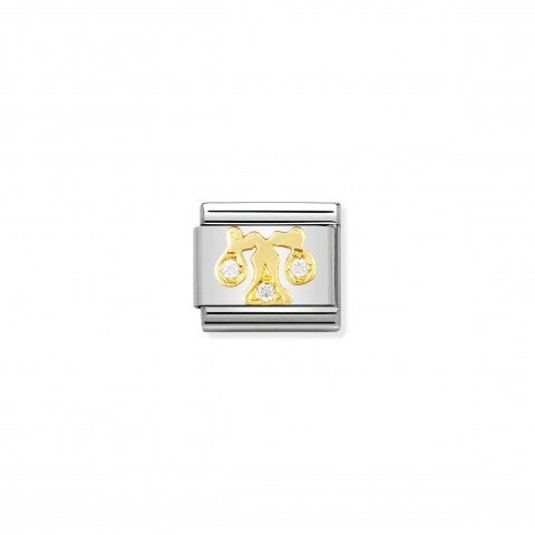 Link_Composable_Classic_con_Pietre_Bilancia_Link_in_Oro_e_Cubic_Zirconia_Simboli_Zodiaco