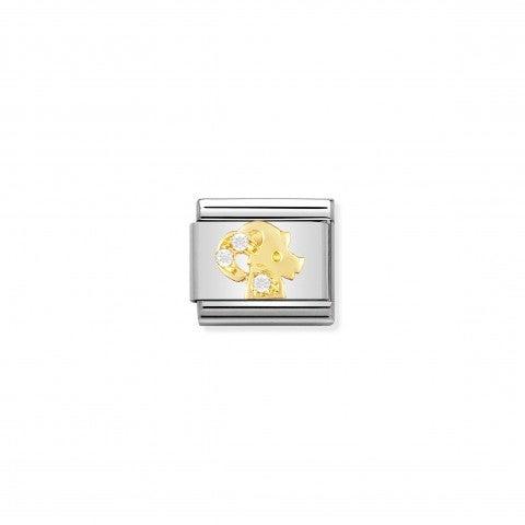 Link_Composable_Classic_con_Pietre_Capricorno_Link_in_Oro_con_Cubic_Zirconia_Simboli_Zodiaco