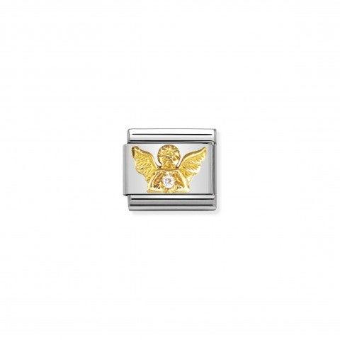 Link_Composable_Classic_Angelo_con_Pietre_Link_Angelo_in_Oro_e_dettagli_in_Cubic_Zirconia