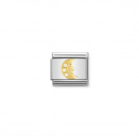 Link_Composable_Classic_Luna_con_Pietre_Link_Luna_in_Oro_e_dettagli_in_Cubic_Zirconia