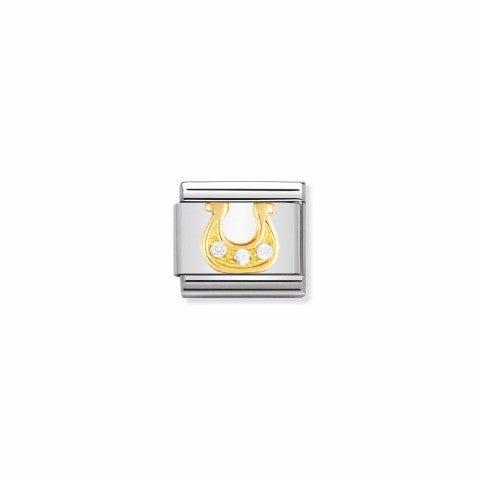 Link_Composable_Classic_Ferro_di_cavallo_danese_bianco_Link_in_Oro_e_Pietre_simbolo_Buona_Fortuna